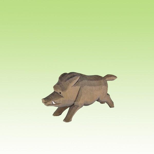 geschnitztes Wildschwein, flüchtend
