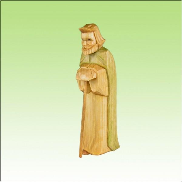 geschnitzter Josef, 12 cm, farbig lasiert
