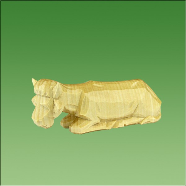 geschnitzter Ochse, 4,5cm, natur