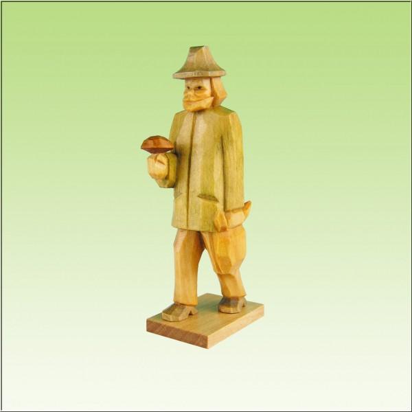 geschnitzter Pilzmann, 7-9cm, farbig