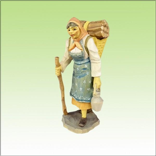 geschnitzte Waldfrau, 11cm, farbig