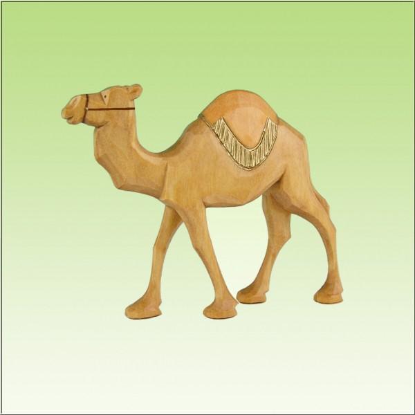 geschnitztes Kamel, laufend, rote ,7cm und 9cm, farbig lasiert