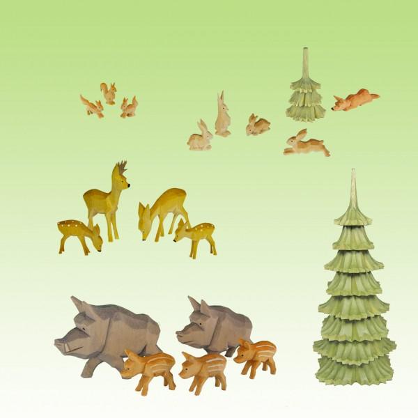 geschnitzte Tiere Set 1