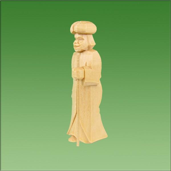 geschnitzter Kameltreiber Mohr, 7cm u. 9cm, natur lasiert