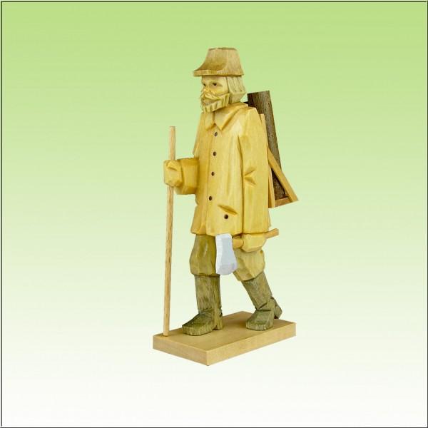 geschnitzter Holzfäller 9cm u. 12cm, farbig lasiert