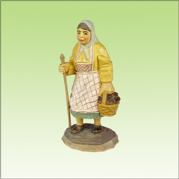 geschnitzter Pilzfrau, 11cm, farbig
