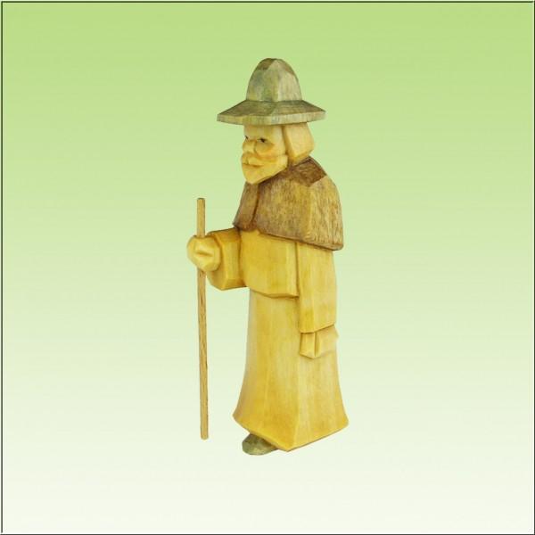 geschnitzter Hirte, 9cm, farbig