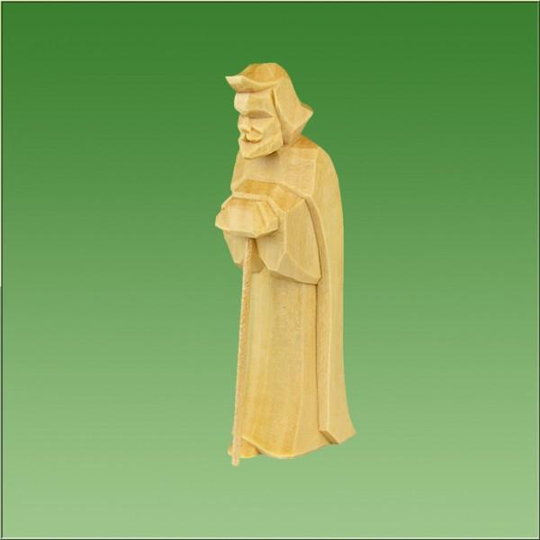 geschnitzter Josef, 7cm und 9cm, natur lasiert