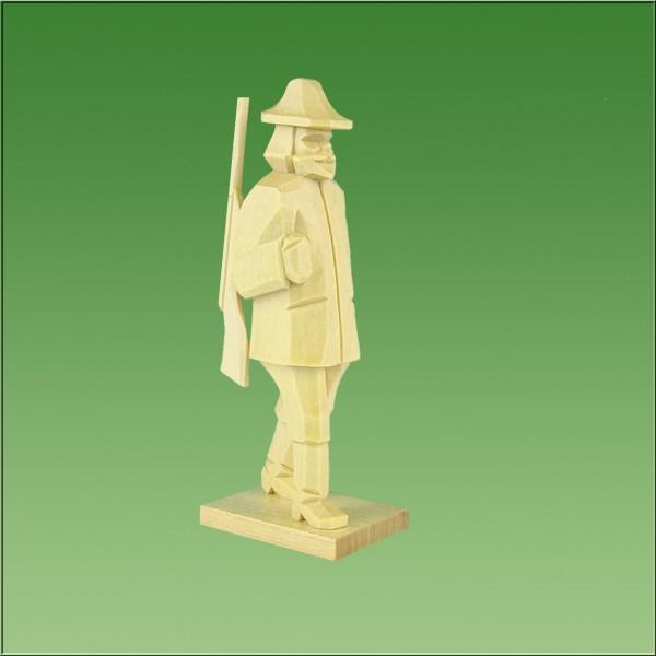 geschnitzter Förster, 7-9cm, natur