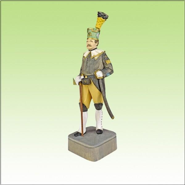geschnitzter Bergmann, Schneeberger Obersteiger, 22cm, farbig
