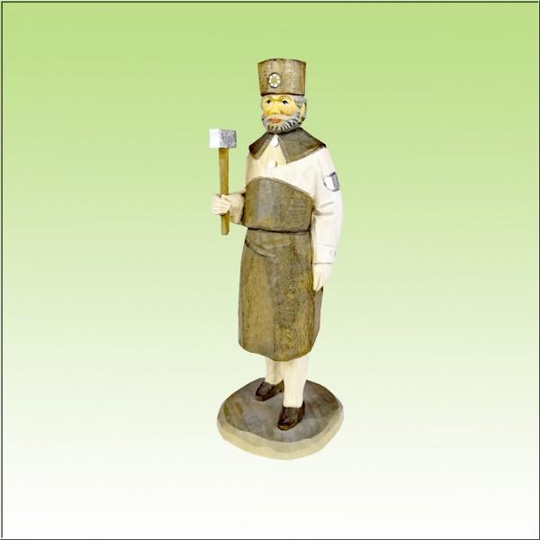 geschnitzter Bergschmied, 12cm, farbig lasiert