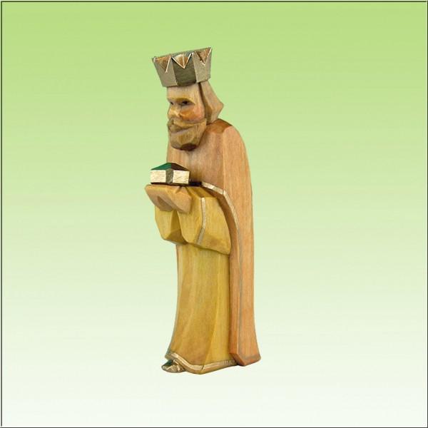 geschnitzter König, 7-9cm, farbig