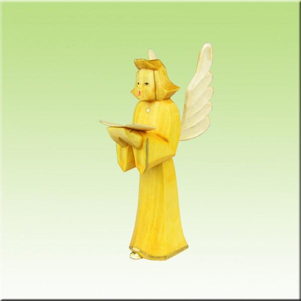 geschnitzter Engel, 12cm, farbig lasiert