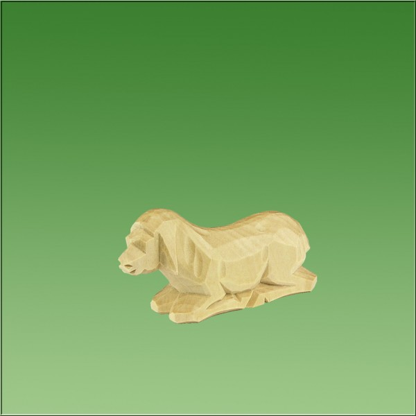 geschnitztes Schaf, 3,5cm, natur