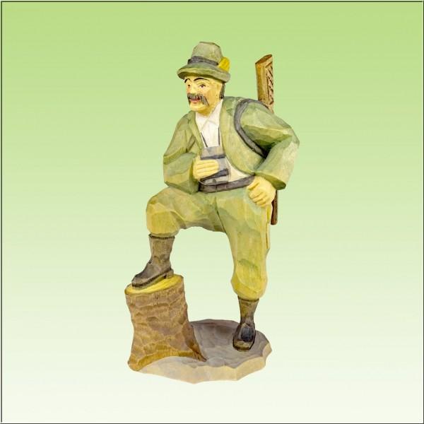 geschnitzter Jäger, 12cm, farbig