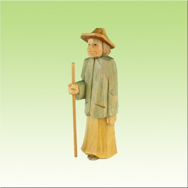 geschnitzter Hirte, 11cm, farbig