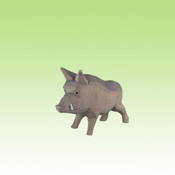 geschnitztes Wildschwein, stehend