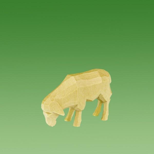 geschnitztes Schaf, fressend