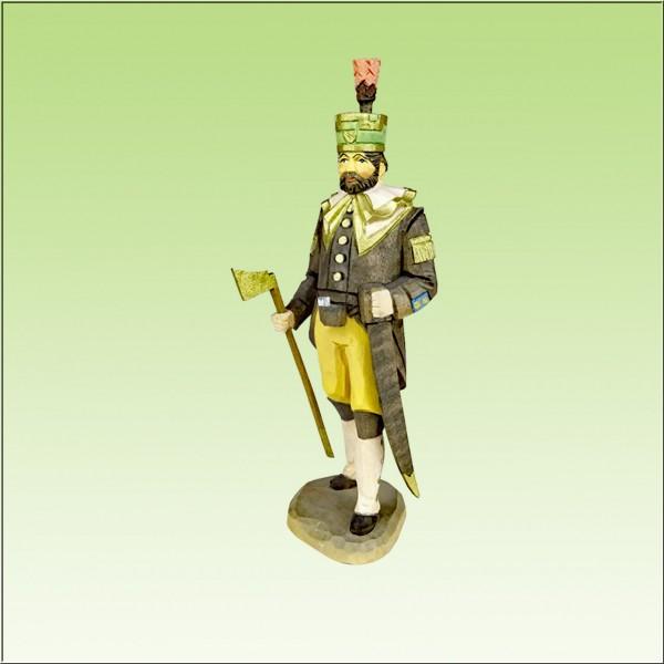geschnitzter Schneeberger Obersteiger, 12cm, farbig