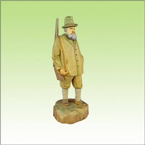 geschnitzter Förster, 18cm, farbig