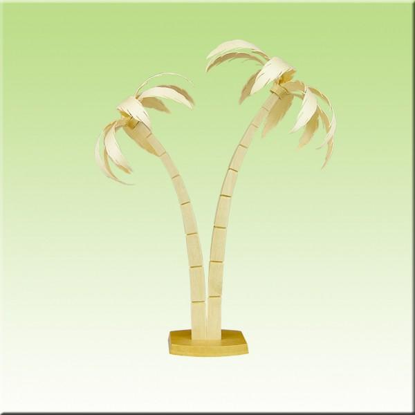 geschnitzte Palmen, 19-25cm, natur