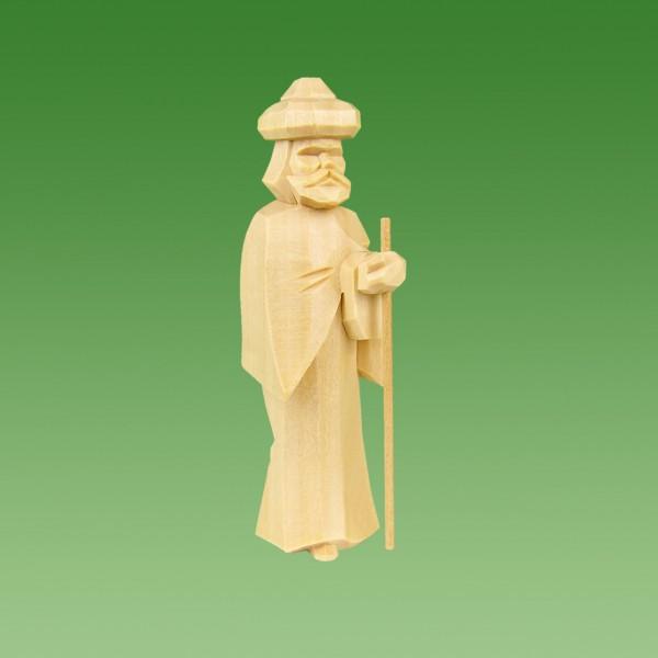 geschnitzter Kameltreiber mit Turban, 7cm u. 9cm, natur lasiert