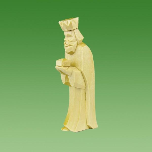 geschnitzter König, stehend