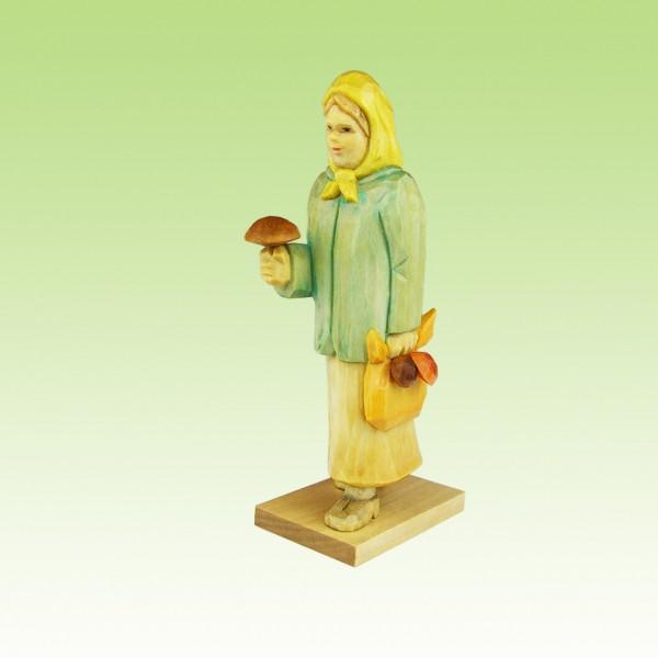 geschnitzte Pilzfrau