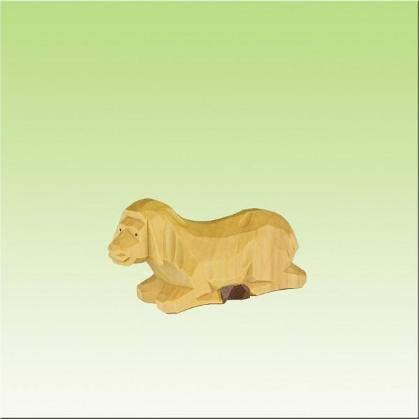 geschnitztes Schaf, 3,5cm, farbig