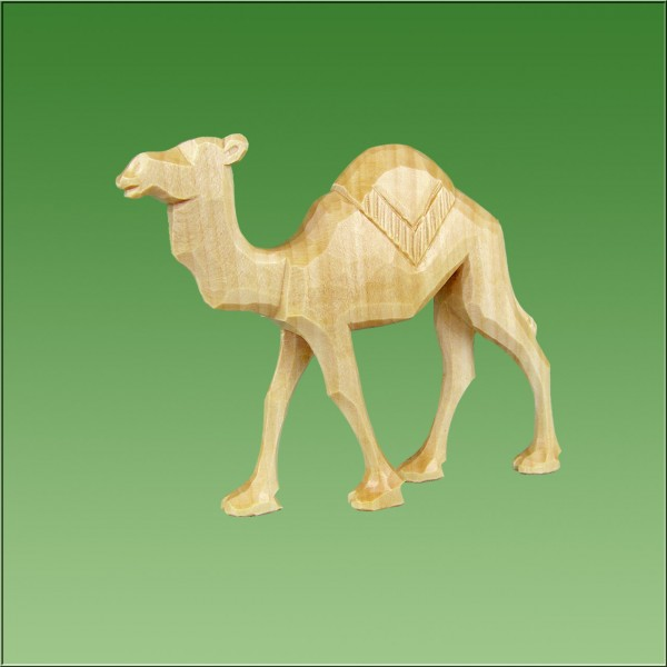 geschnitztes Kamel laufend, 7-10cm, natur