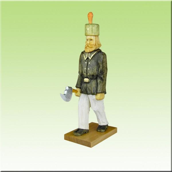 geschnitzter Bergmann, Steiger, 12cm, farbig