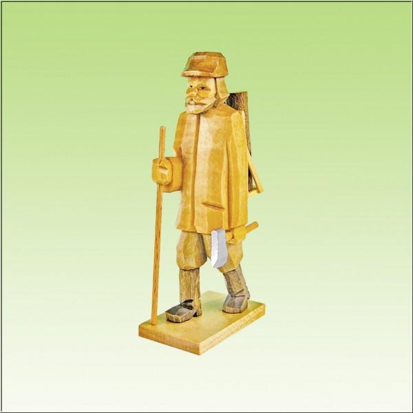 geschnitzter Holzfäller 7cm und 9cm, farbig lasiert