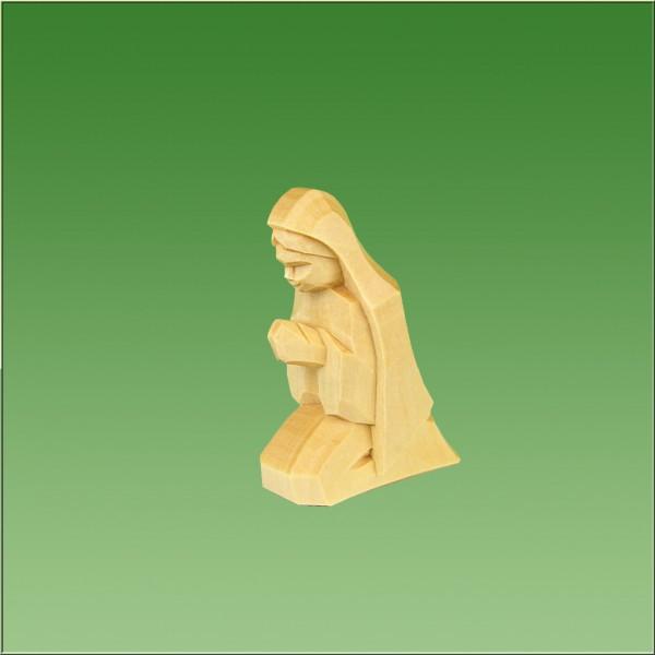 geschnitzte Maria, 7cm und 9cm, natur lasiert