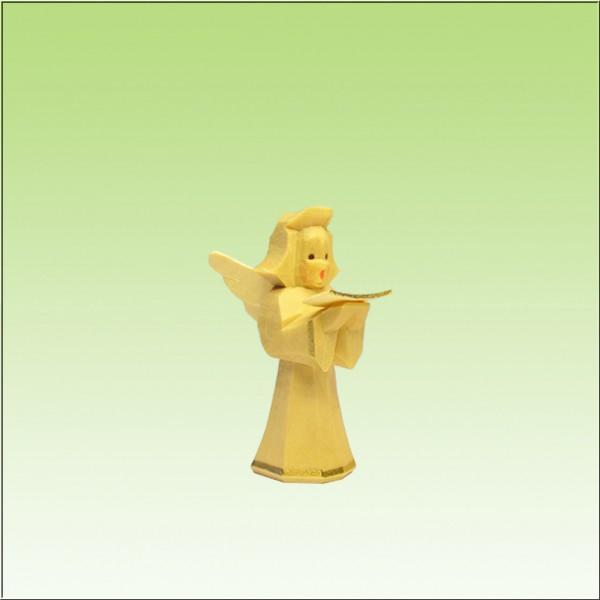 geschnitzter Engel, Sänger, 5cm, natur lasiert