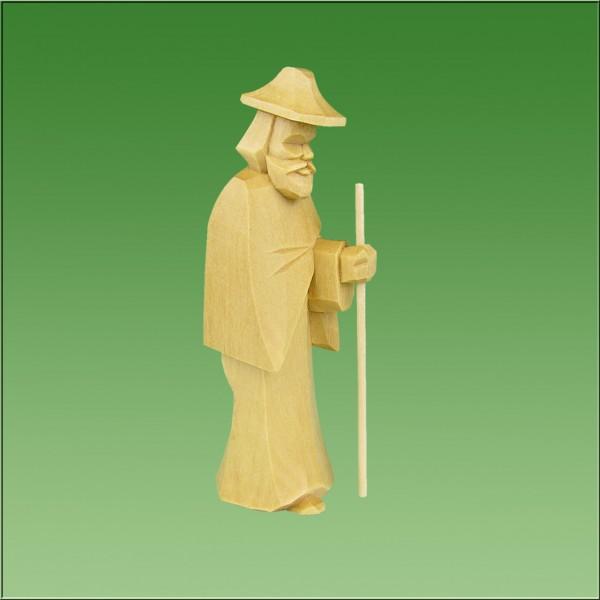 geschnitzter Hirte, 7-9cm, natur