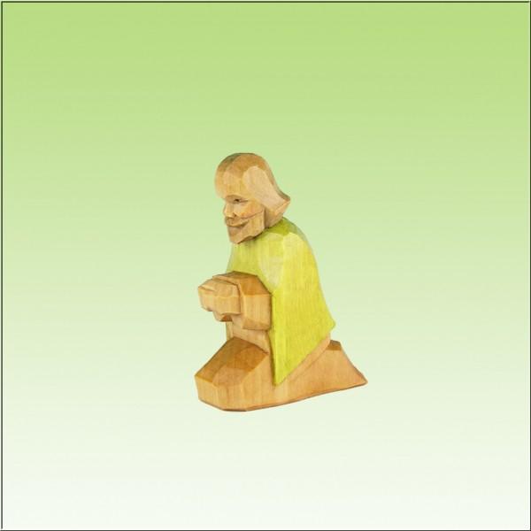 geschnitzter Hirte, 4-6cm, farbig