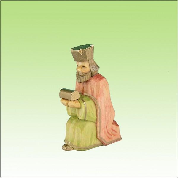 geschnitzter König, 9cm, farbig