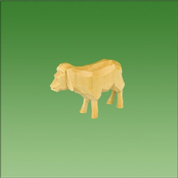 geschnitztes Schaf stehend, 7cm und 9cm, natur lasiert