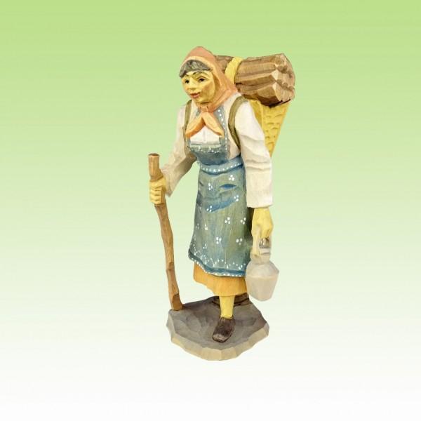 geschnitzte Waldfrau