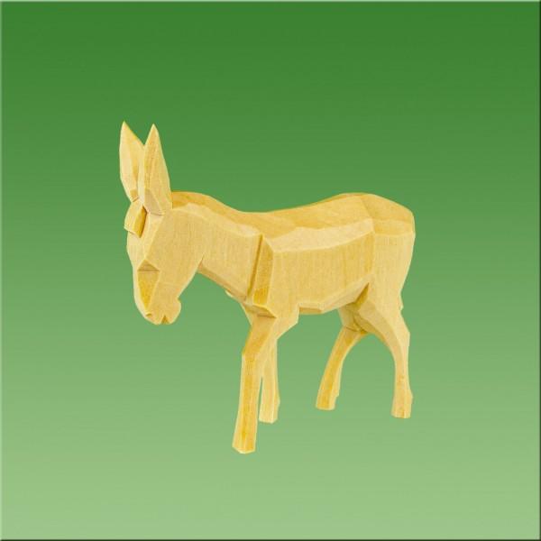 geschnitzter Esel, 5-6cm, natur