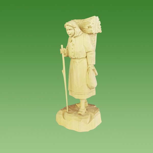geschnitzte Holzfrau