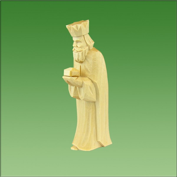 geschnitzter König, 12cm, natur