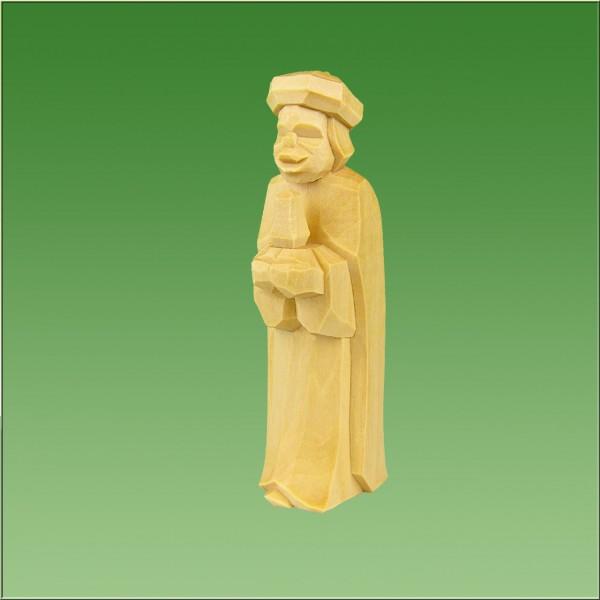 geschnitzter König Mohr, 7cm und 9cm, natur lasiert