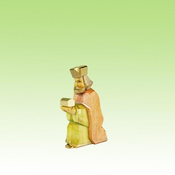 geschnitzter König, kniend