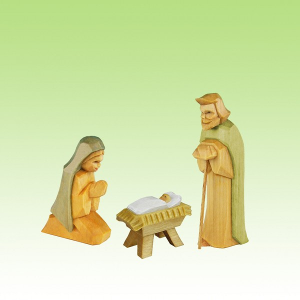 geschnitzte heilige Familie
