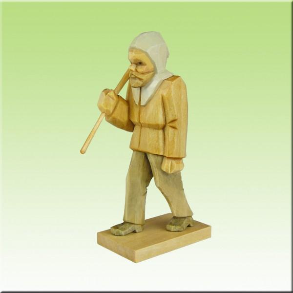 geschnitzter Bergmann, Hauer, 7-12cm farbig