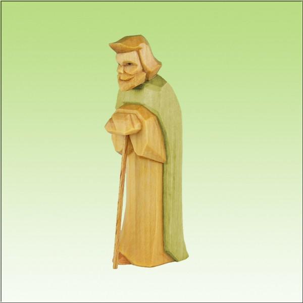 geschnitzter Josef, 7cm und 9cm, farbig lasiert