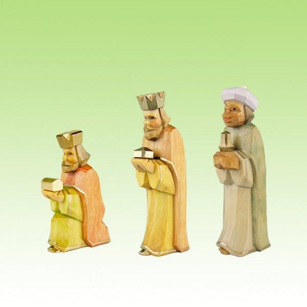geschnitzte drei Könige