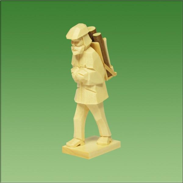geschnitzter Holzfäller, 9cm natur