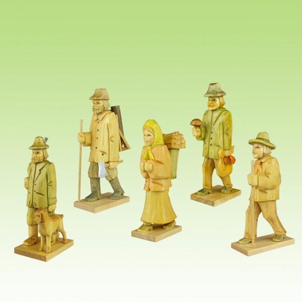 geschnitztes Waldfigurenset 1